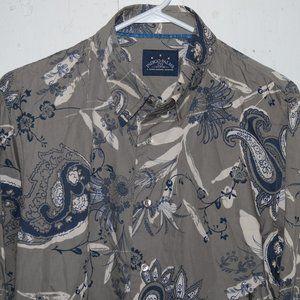 Tommy bahama indigo palms mens shirt sz L J762